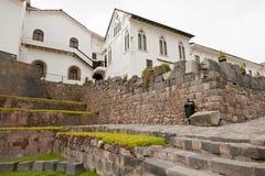 Igreja de Santo Domingo e de templo de Coricancha Fotografia de Stock
