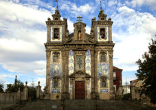 The Igreja de Santo Ildefonso church in Porto Royalty Free Stock Photos