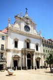 Igreja de Sao Domingos in Lisbon, Portugal. Igreja de São Domingos - a Roman Catholic church in Lisbon, the capital of Portugal. Its construction started in royalty free stock photos