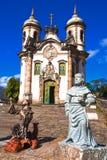 Igreja de Sao Francisco de Assis Ouro Preto Stockfotos