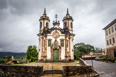 The Igreja de Sao Francisco de Assis. View of the Igreja de Sao Francisco de Assis of the unesco world heritage city of ouro preto Stock Photo