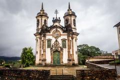 The Igreja de Sao Francisco de Assis. View of the Igreja de Sao Francisco de Assis of the unesco world heritage city of ouro preto Royalty Free Stock Images