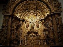 Igreja De Sao Pedro Faro Portugal. Igreja de Sao Pedro with gold altar and decoration in Faro, Algarve region Portugal Stock Photo