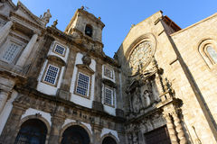 Igreja de Saoo弗朗西斯科,波尔图,葡萄牙 免版税图库摄影