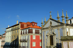 Igreja de Saoo Nicolau,波尔图,葡萄牙 免版税库存图片