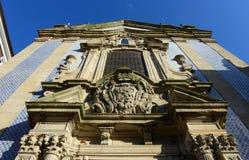 Igreja de Saoo Nicolau,波尔图,葡萄牙 图库摄影