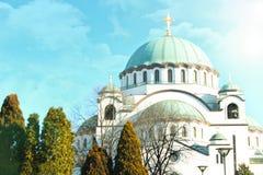 Igreja de Sava de Saint Belgrado, Serbia fotografia de stock royalty free