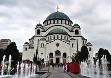 Igreja de Savva de Saint, capela da trindade, Belgrado Imagem de Stock