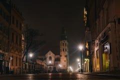 A igreja de St Andrew, ³ w de Krakà fotos de stock