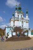 A igreja de St Andrew em Kiev Fotos de Stock Royalty Free