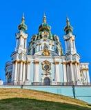 A igreja de St Andrew em Kiev, Ucrânia. Fotos de Stock