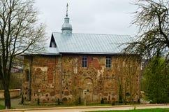 Igreja de St Boris e Gleb ou Kalozhskaya na mola, Grodno, Bielorrússia Imagem de Stock Royalty Free