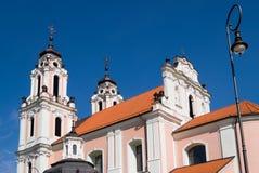 Igreja de St. Catherine em Vilnius, Lithuania Imagem de Stock Royalty Free