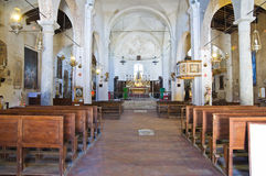 Igreja de St. Donato. Civita di Bagnoregio. Lazio. Itália. Fotos de Stock Royalty Free
