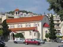 A igreja de St George Gr?cia, Kavala - Sertember 10, 2014 imagem de stock royalty free
