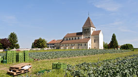 Igreja de St George na ilha de Reichenau Imagens de Stock Royalty Free