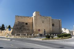 A igreja de St Gregory, Zejtun, Malta imagem de stock