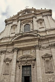 A igreja de St Ignatius de Loyola no terreno Martius em Roma, fotos de stock royalty free