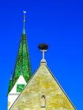 Igreja de St John Baptist Church no mercado em Saulgau mau, Alemanha Imagens de Stock Royalty Free