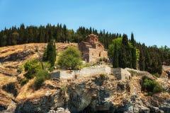A igreja de St John do estilo de Kaneo Byzantine do CEN de XIIIth foto de stock royalty free