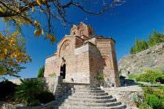 Igreja de St John em Kaneo, Ohrid Foto de Stock Royalty Free