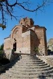 Igreja de St John em Kaneo, Ohrid Fotos de Stock
