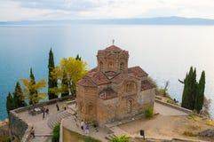Igreja de St John de Kaneo em Ohrid foto de stock royalty free