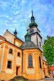 Igreja de St Martin em Trebic, República Checa fotos de stock royalty free