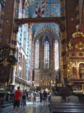 A igreja de St Mary em Krakow Imagem de Stock Royalty Free