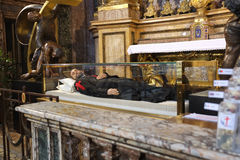 A igreja de St. Mary Magdalene em Roma Foto de Stock Royalty Free