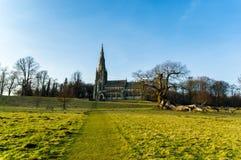 A igreja de St Mary, perto do ripon Imagens de Stock Royalty Free