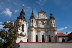 Igreja de St Michael em Vilnius, Litnuania imagens de stock