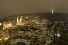 Igreja de St.Nicolas em Mala Strana de Praga Imagens de Stock Royalty Free