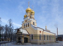 Igreja de St Panteleimon o curandeiro no solar-Bezborodko Kushelev na terraplenagem de Sverdlovsk St Petersburg Rússia fotos de stock