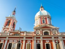 Igreja de St Panteleimon o curandeiro, St Petersburg, Rússia fotografia de stock