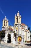 Igreja de St Panteleimon XI 'no rhodes Greece fotos de stock