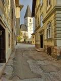 Igreja de St Paul do século XIII Aussee mau, Styria, Áustria foto de stock royalty free