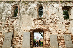 A igreja de St Paul em Malacca Imagens de Stock Royalty Free