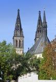 Igreja de St Peter e de Paul em Vysehrad em Praga, República Checa Imagens de Stock