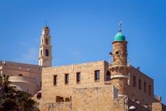 A igreja de St Peter, mesquita do mar em Jaffa velho no telefone Avi foto de stock