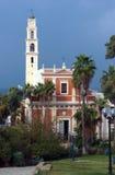 A igreja de St Peter na cidade velha ` de Jaffa, Tel Aviv, Israel foto de stock