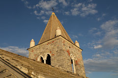 A igreja de St Peter, Portovenere, Cinque Terre Imagens de Stock Royalty Free