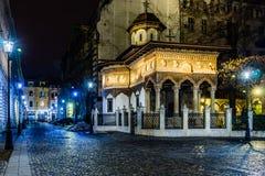 Igreja de Stavropoleos Foto de Stock Royalty Free