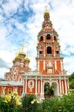 Igreja de Stroganov nas flores Nizhny Novgorod Imagem de Stock