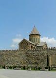 Igreja de Svetitskhoveli e panorama complexo do castelo em Mtskheta, Geórgia Imagens de Stock Royalty Free