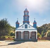Igreja de Tenaun - Tenaun, ilha de Chiloe, o Chile fotos de stock