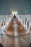Igreja de Tenaun, ilha de Chiloe, o Chile imagens de stock royalty free