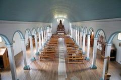 Igreja de Tenaun, ilha de Chiloe, o Chile imagem de stock