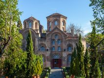 10 03 2018 igreja de Tessalónica, Grécia - de Agios Panteleimon no Th foto de stock