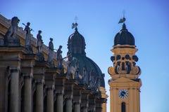 Igreja de Theatine em munich/Alemanha fotos de stock